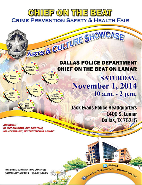 Chief on the Beat Flyer in English