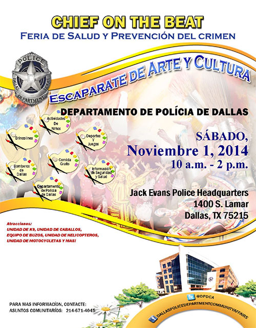 Chief on the Beat Flyer in Spanish